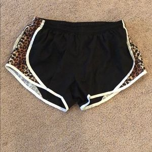 Cheetah Print Black Athletic Shorts - Juniors L